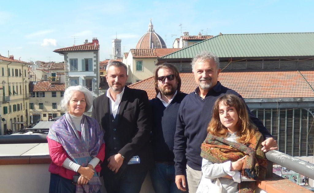 Da esquerda para a direita Regina Helena Vieira Santos, Michelangelo Pivetta, Sandro Parrinello, Stefano Bertocci e Francesca Picchio.