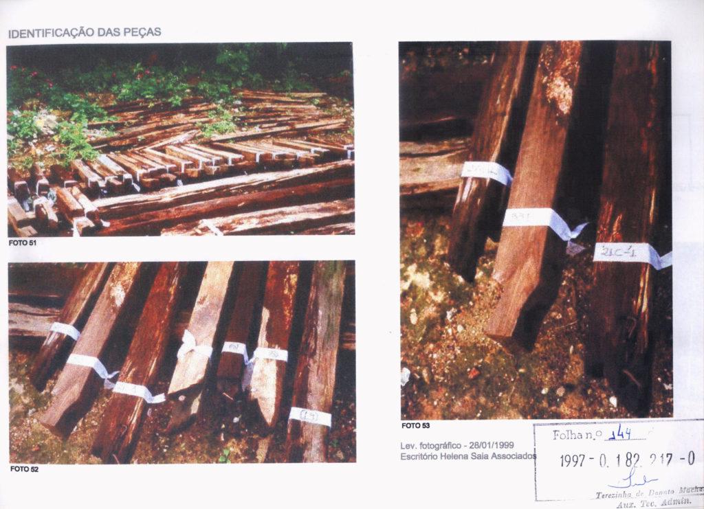 Fig.4 a 6. Peças de madeira remanescentes em 1997 e sua posição no edifício (fonte: processo 1997-0.182.217-0)
