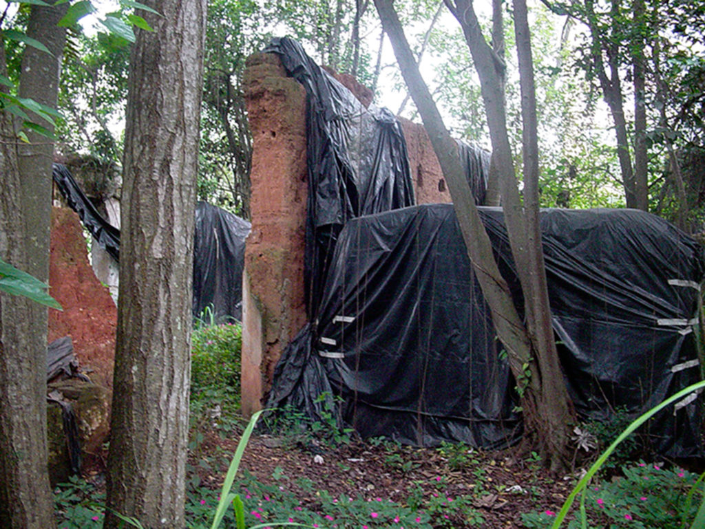 Fig.13. Ruínas da casa (fonte: foto de Dalton Sala, 2004 ).