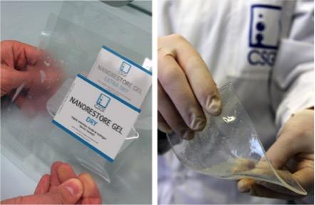 Fig. 5 –Hidrogel químico para limpeza de superfícies. Fonte: Disponível em:. Acesso em: jan.2017.